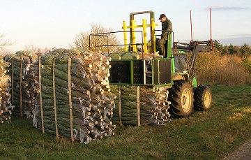 Juletræerne pakkes og gøres klar til salg