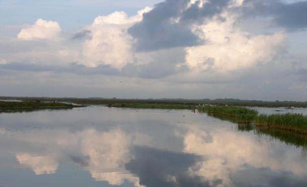 Det danske landskab byder hverken på bjerge eller dybe kløfter. Landet ved Skjernåen storslået på sin egen måde med sine åbne, flade vidder og frie, ubrudte himmel.