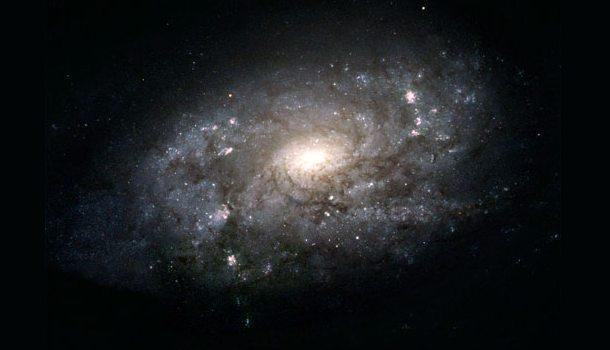 Vores galakse Mællevejen som den antageligt ser set fra afstand. Foto: NASA