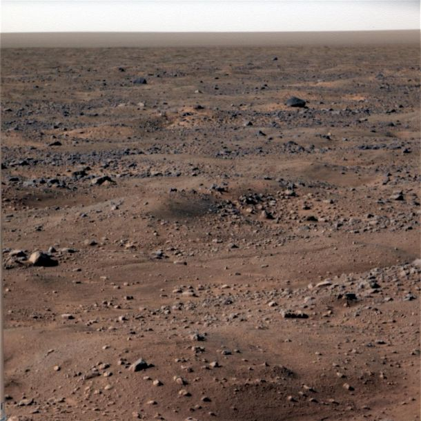 Overfladen på Mars. Foto: NASA/JPL-Caltech/University of Arizona/Texas A&M University