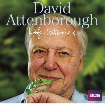 Sir David Attenborough på omslaget til BBC lydbog baseret på serien Life Stories.