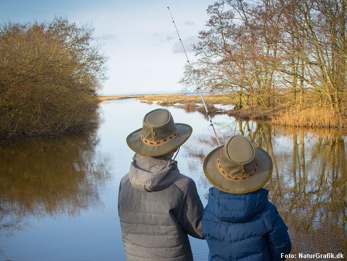 Test af fiskestang til børn
