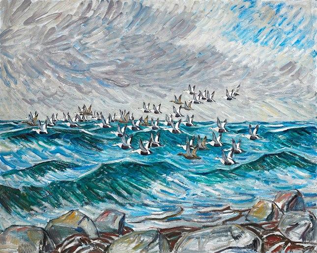 Knud Kyhn: Flyvende Ederfugle, fra 1945. Foto: Jes Larsen, Inferno.