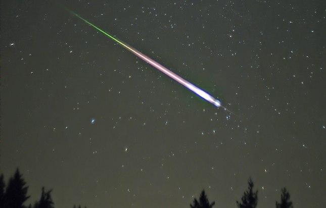 Forleden blev der observeret to lysende ildkugler over Nordjylland. Billedet her fra stjerneskudssværmen Leoniderne i 2009. Foto: Navicore, CC BY 3.0, Wikimedia.