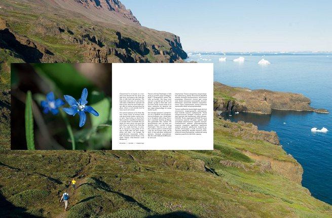Billeder fra bogen. Sne-ensian. I baggrunden Kuannit-dalen. Fotos: Bo Normander.