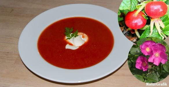 Når bærerne først er rensede, er det utrolig nemt og hurtigt at lave. Suppen, der har en lidt sød smag, er god til f.eks. en anderledes forret.