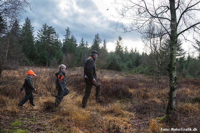 På jagt i naturen