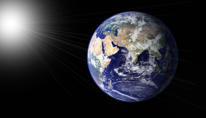 Jorden set fra rummet. Foto: NASA.