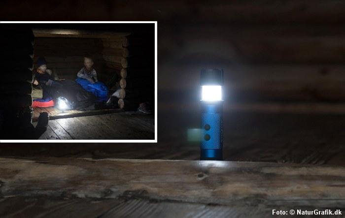 Lygte med lanternefunktion