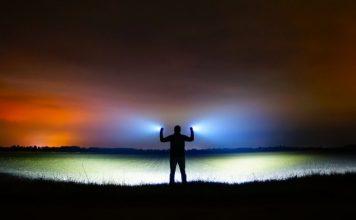 Lommelygter med farvet lys