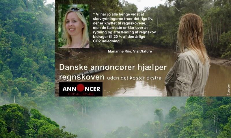 Annoncer hjælper naturen