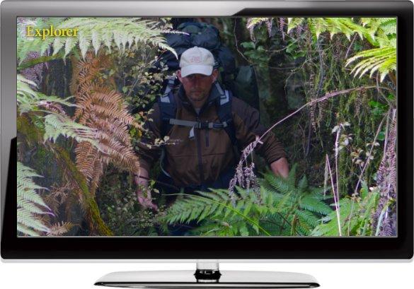 Overlevelse på tv. Gennem regnskoven på naturens præmisser. Foto: Thomas Nissen/NaturGrafik.