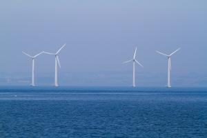 Anholt havvindmøllepark er Danmarks største. Møllerne er 141,6 meter høje. Det er 49 meter højere end frihedsgudinden.